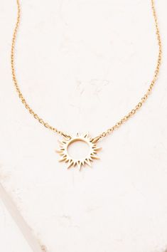 807ecd40e94f The Mallory Gold Sun Pendant Necklace is equal to the cost of reaching out  to 35