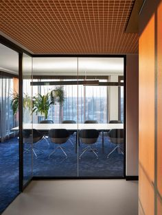 FRAME | How Ippolito Fleitz Group's colourscape reflects the altered role of the office Interior Work, Office Interior Design, Shared Office, The Office, Corporate Interiors, Office Interiors, Glass Partition Wall, Room Acoustics, High Rise Building