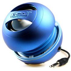 XMI X-Mini II Enceinte portable pour iPhone/ iPad 2 3 / lecteur MP3 / ordinateur portable Bleu: Amazon.fr: Audio & HiFi
