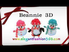Rainbow Loom Hat/Beannie 3D for Snowman/Penguin Charm - How to Loom Bands Tutorial - YouTube
