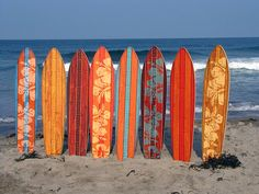 Vintage Surfboard Wooden Growth Charts. $85.00, via Etsy.