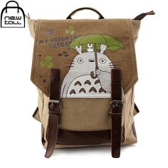 24.32$  Buy now - http://alibxl.shopchina.info/go.php?t=32727759735 - [NEWTALL] 2017 New Fashion Totoro Cartoon Canvas Bag Backpack  Male Package Inclined Shoulder Bag Free Shipping ZB0024  #magazineonlinewebsite