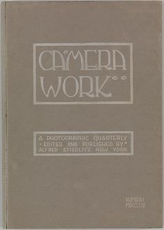 Camera Work, No. 1 | Editor: Alfred Stieglitz  | January 1903 | Printed book with photogravure and halftone illustrations