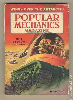 Popular Mechanics October Wings Over The Antarctic Magazine Images, Popular Mechanics, Vintage Magazines, Digital Camera, Image Search, Wings, Ebay, October, Collection