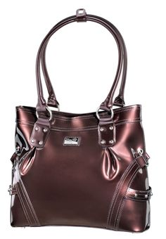 Head Over Heels (Chocolate) || Dimensions: 13″ L x 4″ W x 11.5″ H - Strap Length: 10″ - Opening: 5″ - Trim Colors: None - SRP: $129.00 - Available In: Charcoal, Chocolate, Fuchsia, Lipstick Red, Moss, Platinum, Teal