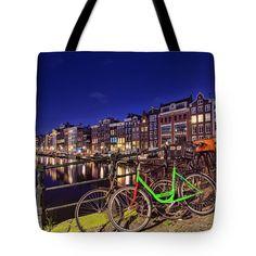 Tote Bags - City Lights Tote Bag by Nadia Sanowar