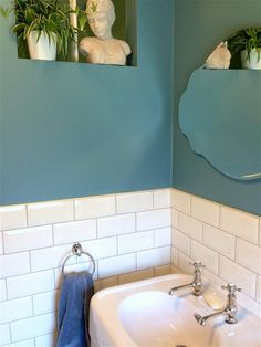 An inspirational image from Farrow and Ball. stone blue