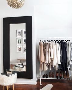 Simple, chic, and organized wardrobe
