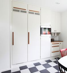 Banér kitchen by Kvänum. It's my ultimate dream kitchen. Fridge and freezer with full covered doors.