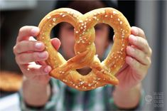 Giant soft pretzels!!! We could shape them like dolphins, or at least like fish.
