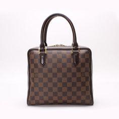 Louis Vuitton Brera Damier Ebene Handle bags Brown Canvas N51150