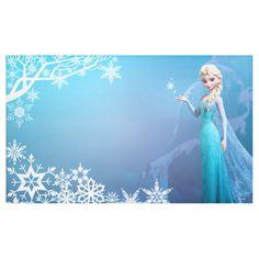 Shop Disney Frozen Elsa Birthday Banner created by frozen. Frozen Birthday Banner, Frozen Banner, Frozen Birthday Invitations, Frozen Themed Birthday Party, Disney Frozen Birthday, Birthday Backdrop, Disney Frozen Elsa, Frozen Party, Party Invitations