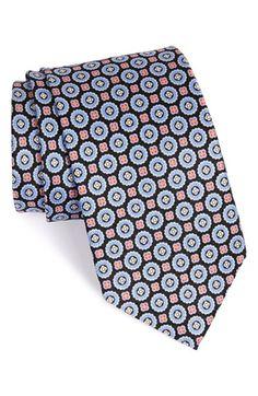 J.Z. Richards Medallion Silk Tie (X-Long)