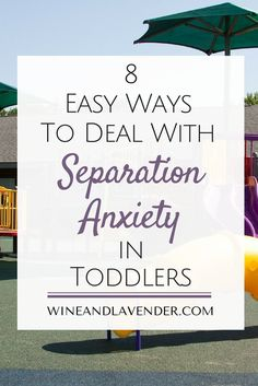 When you feel like your toddler doesn't like school, it can be difficult. Dealing with separation anxiety in toddlers, babies, or kids isn't easy, but don't fret, Mom! Here are 8 Easy Ways to Deal with Separation Anxiety in Toddlers to make drop-off at preschool or daycare easier! http://www.wineandlavender.com/parenting/ways-to-deal-with-separation-anxiety-in-toddlers/