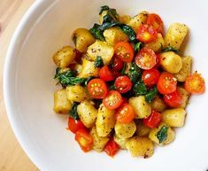 Trader Joe S Cauliflower Gnocchi Recipe Sauteed Spinach And Tomatoes Make For Great Add Ons Gnocchi Recipes Sauteed Spinach Gnocchi Spinach