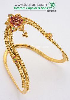 Totaram Jewelers: Buy 22 karat Gold jewelry & Diamond jewellery from India: Baby Arm Vanki