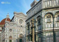 de @clicaventura -  Me quedé casi sin aliento al ver el conjunto del #Duomo el Baptisterio de San Giovanni y la Cúpula de #Brunelleschi en #Florencia.  No puede ser más bonito!!! by castillayleontb