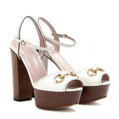 Gucci - Leather sandals #sandals #gucciogucci #gucci #designer #covetme