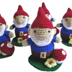 Me, I love gnomes, and I just couldn't resist showing you this 3-piece Garden Crochet Gnome that's weighted so the little guy stands up. Set includes gnome, toadstool and a patch of flowering turf. Cute for kids or even on...