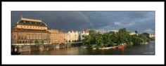 Panoramic Pictures, Praha, National Theatre, Prague Czech, Czech Republic, Fine Art Photography, Louvre, River, Island