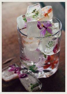 Add some fruit and flowers to your ice cube trays before freezing to dress up your cocktails. 11 ways to create change both big and small in your home and life, by @Shannon Bellanca Fricke