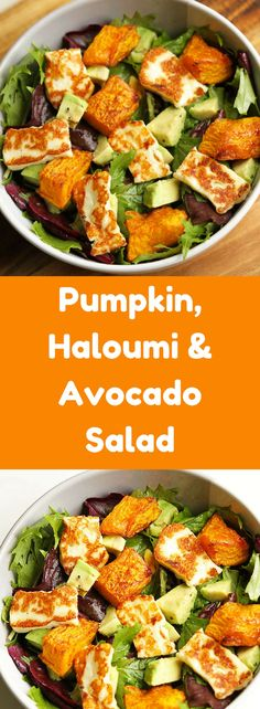 Pumpkin, Haloumi & Avocado Salad