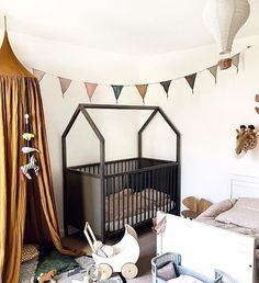Expecting a baby while you're living in an apartment or small house? From storage tips to baby furniture hacks, this guide will help you discover ways to make room for your newest family addition! Girl Bedroom Designs, Girls Bedroom, Small Space Living, Small Spaces, Inspire Me Home Decor, Thing 1, Home Safes, Baby Comforter, House Beds