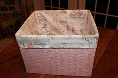 HOUSEography: DIY Fabric Basket Liner-- Use for Easter Baskets!