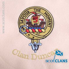 Clan Duncan Custom Embroidery @scotclans. Free worldwide shipping available.