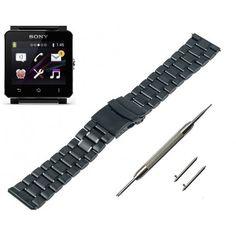 Bracelet avec une boucle déployante avec bouton-poussoir, pour faciliter et rapide et confortable à porter  Vendu avec Outil+2 barrettes