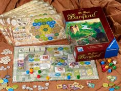 The Castles of Burgundy: one of my favorites. Strategic with a mix of the luck of the dice rolls. Fun Board Games, Games To Play, Skateboard Deck Art, Marble Games, Playing Card Games, Kids Board, Game Night, Burgundy, Castles