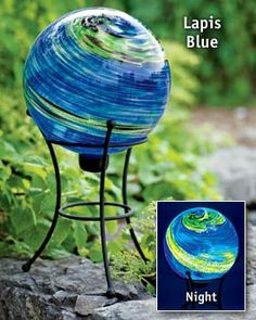 Love glow in the dark lapis blue globes