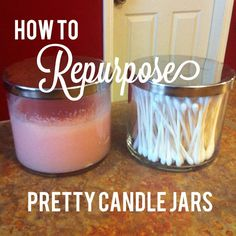 While cleaning out my pantry, I found two Bath and Body Works candles that I had saved back with the intention of reusing the jars. They had...