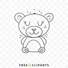 Free Cute bear clip art Bear Illustration, Cute Bears, Snoopy, Clip Art, Creative, Prints, Free, Pictures
