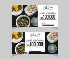 voucher design for the bean garden coffee and eatery Graphisches Design, Graph Design, Food Design, Food Vouchers, Gift Vouchers, Bean Garden, Gift Voucher Design, Meal Calendar, Food Poster Design