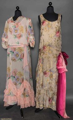 Two Chiffon Print Gowns, Early 1930s, Augusta Auctions, April 8, 2015 NYC, Lot 178
