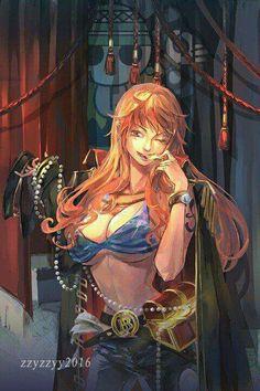 Nami, one piece Nami One Piece, One Piece Manga, One Piece Fanart, Manga Anime, Fanart Manga, Anime One, Manga Art, Nami Swan, Anime Sensual