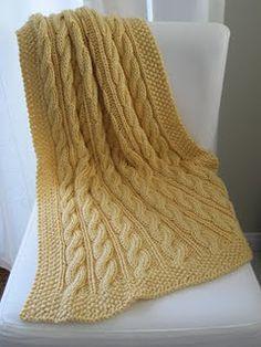 Violet's Cable Knit Blanket