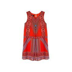 Girls 7-16 IZ Amy Byer Geometric Dress with Necklace, Girl's, Size: 16, Ovrfl Oth