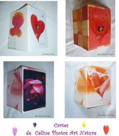 Cartes doubles avec un coeur de Céline Photos Art Nature
