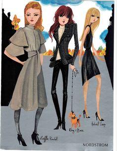 16 Ruben Toledo Clippings Ads lot Fashion Illustration Illustrator Design Chloe