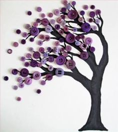 DIY Button Art Tree Buttons have always featured in my life - from my Grandma's . DIY Button Art Tree Buttons have always featured in my life - from my Grandma's . DIY Button Art Tree Buttons have always featured in my life - from. Adult Crafts, Kids Crafts, Diy And Crafts, Simple Crafts, Simple Craft Ideas, Fun Ideas, Creative Project Ideas, Best Crafts, Simple Art Projects