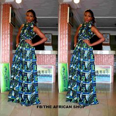 Eminarin Maxi Dress by THEAFRICANSHOP on Etsy