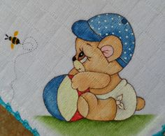 Have a look at this refreshing thing - what a clever conception Applique Patterns, Applique Designs, Quilt Patterns, Nursery Paintings, Nursery Art, Tole Painting, Fabric Painting, Painting Patterns, Burp Cloths