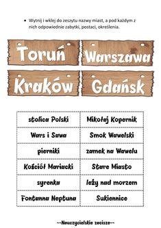 Polish Language, Poland, Education, Blog, School Ideas, Crafts, Geography, Speech Language Therapy, Therapy