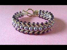 Video:  How to make a beautiful and easy pearl bracelet ~ Seed Bead Tutorials