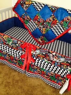 4pc. avengers crib bedding set   bed sets