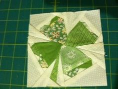 Cute shamrock by Material Girls Quilts, Paper piecing technique