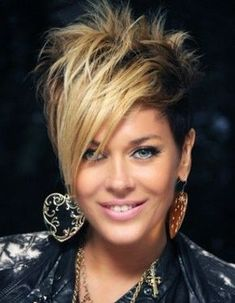 *** These ladies prove that a short hairstyle is really amazing ! *** These ladies prove that a short hairstyle is really amazing ! What hairstyle do you guys think is the most beautiful … Pixie Haircut For Thick Hair, Short Sassy Haircuts, Funky Short Hair, Edgy Hair, Cute Hairstyles For Short Hair, Short Haircut, Natural Hair Styles, Short Hair Styles, Asymmetrical Hairstyles