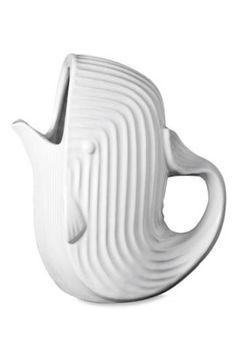 Jonathan Adler White Porcelain Whale Pitcher New!